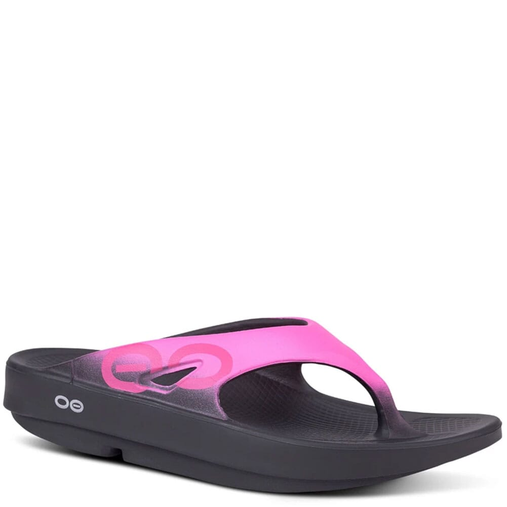 Image for OOFOS Unisex OOriginal Sport Sandals - Black/Pink from elliottsboots