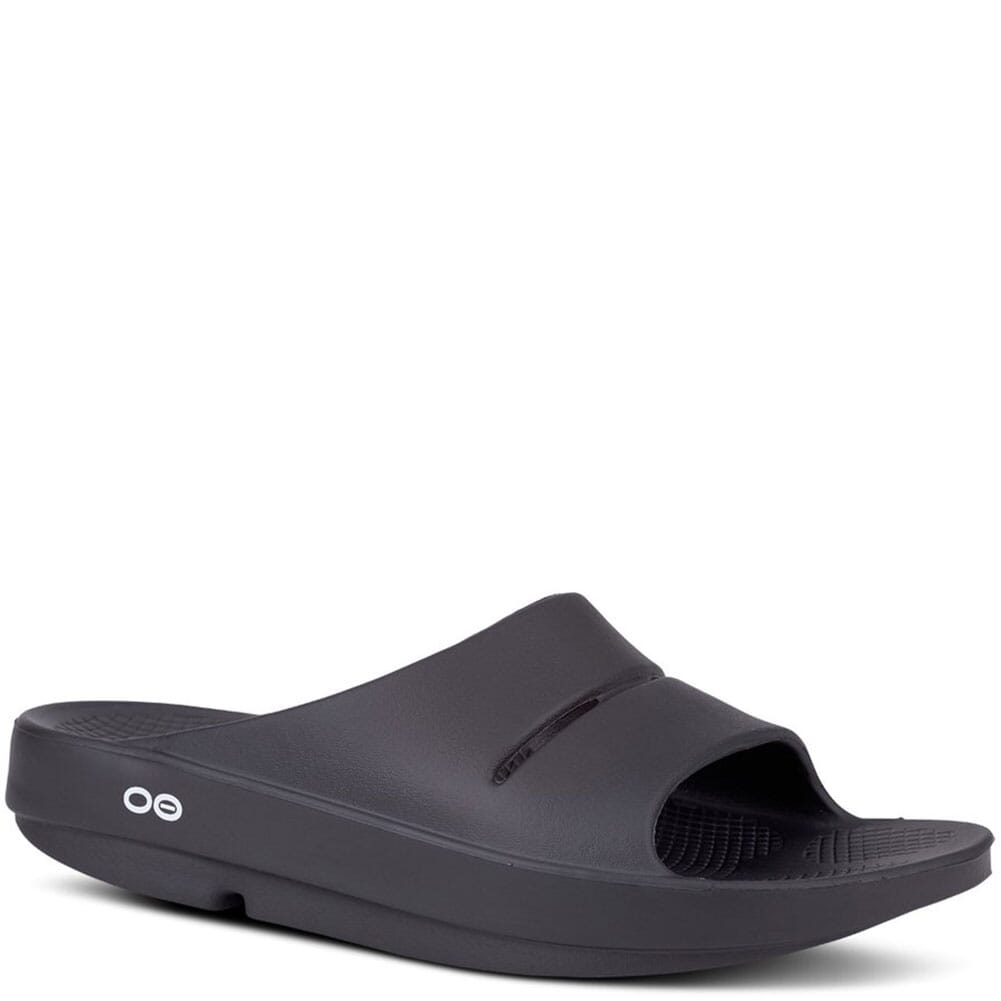 Image for OOFOS Unisex OOAHH Slides - Black from elliottsboots