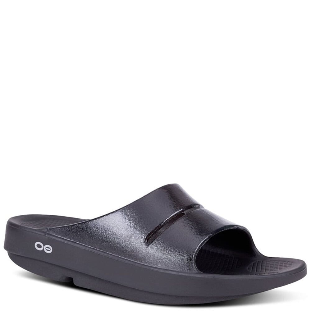 Image for OOFOS Women's OOAHH Luxe Slide - Black from elliottsboots