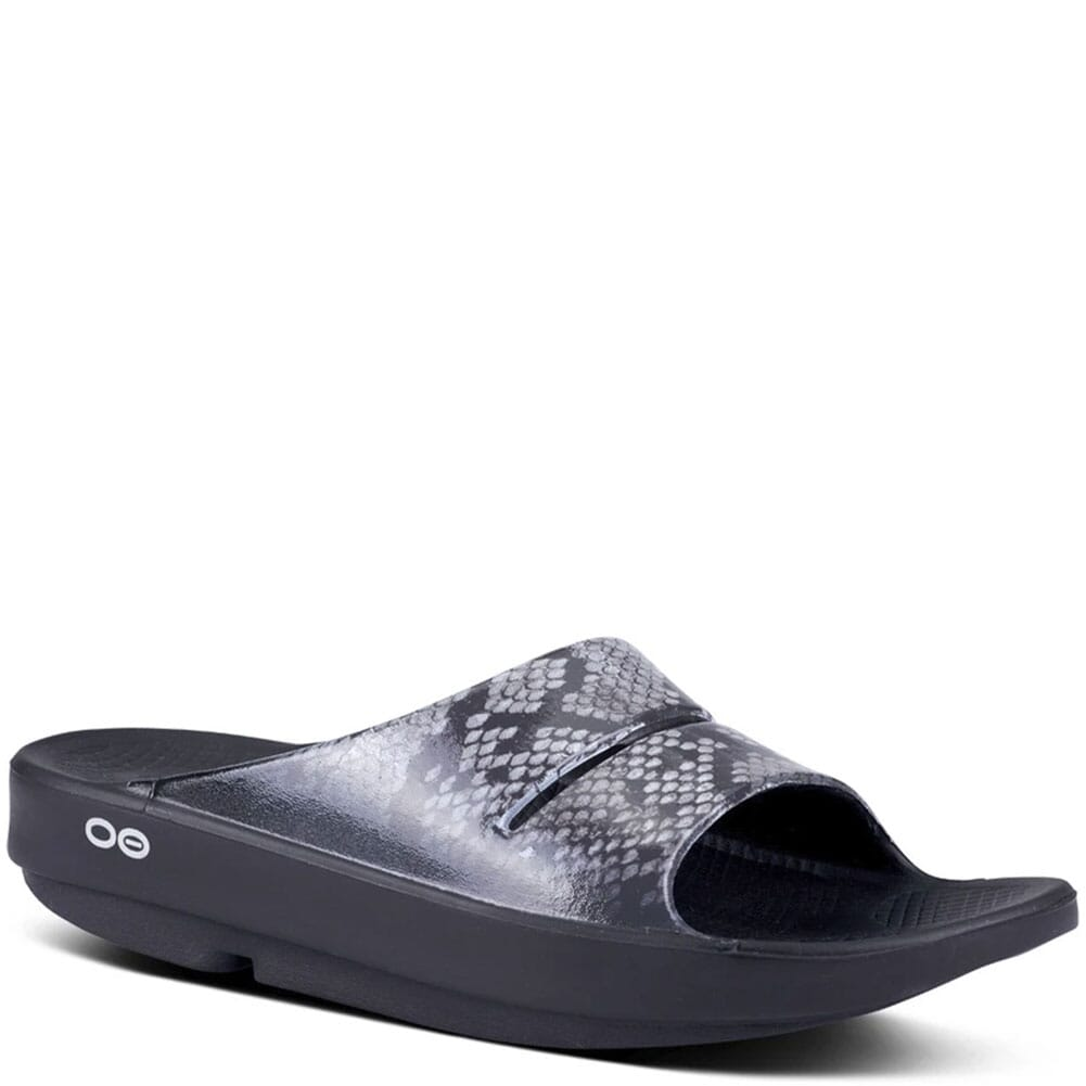 Image for OOFOS Women's OOAHH Luxe Slide Sandals - Snake from bootbay