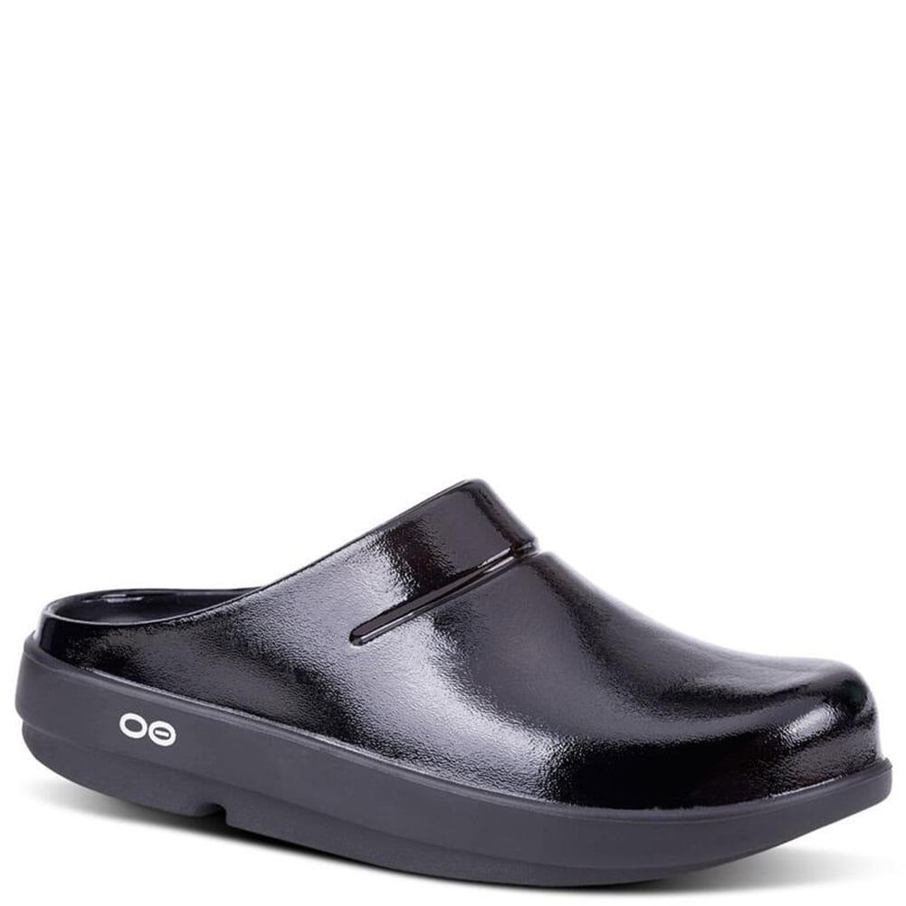 Image for OOFOS Women's Oocloog Luxe Clogs - Black from bootbay