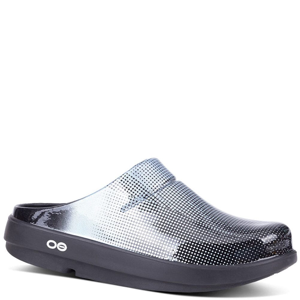 Image for OOFOS Women's Oocloog Geo Casual Clogs - Platinum from bootbay