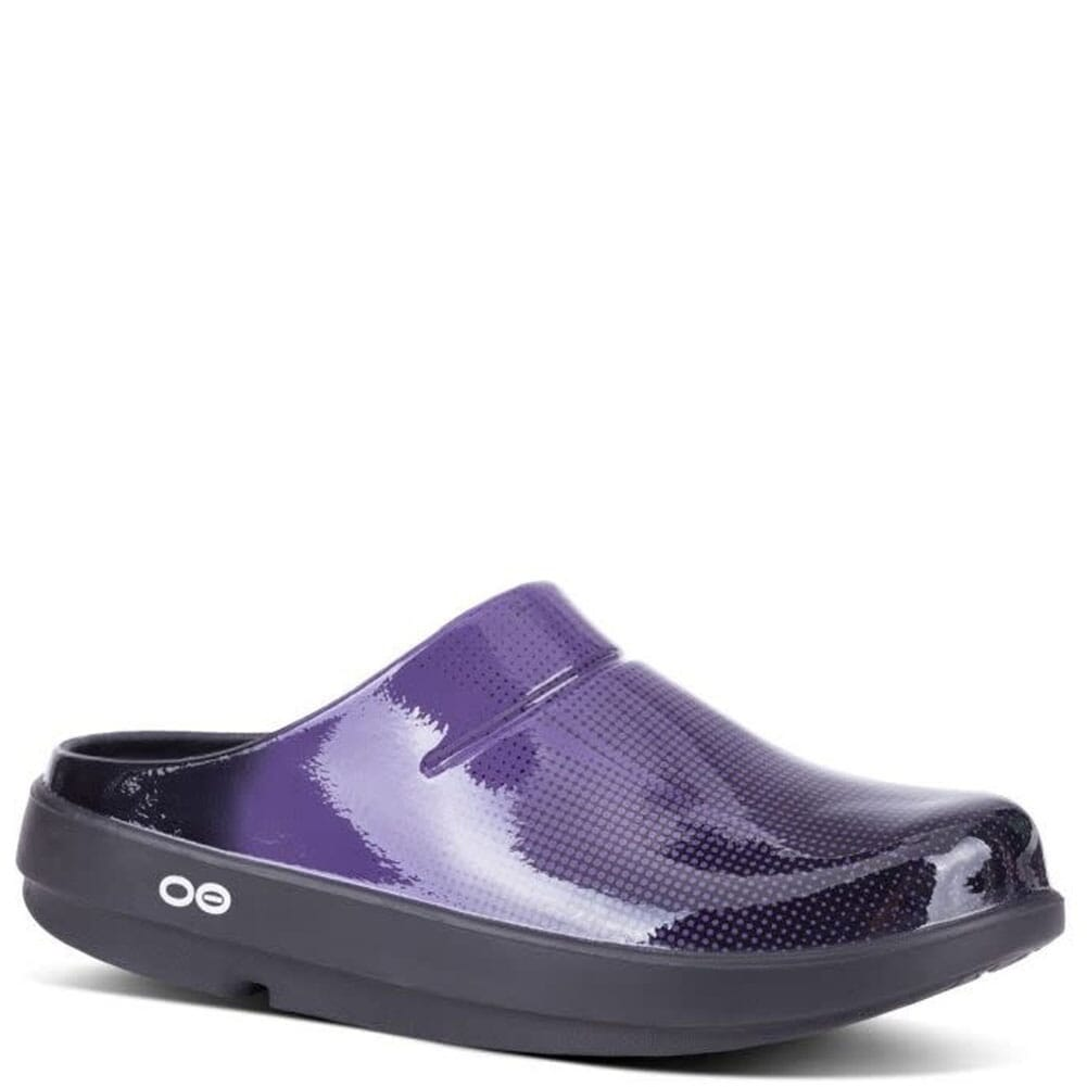 Image for OOFOS Women's Oocloog Geo Casual Clogs - Purple from bootbay