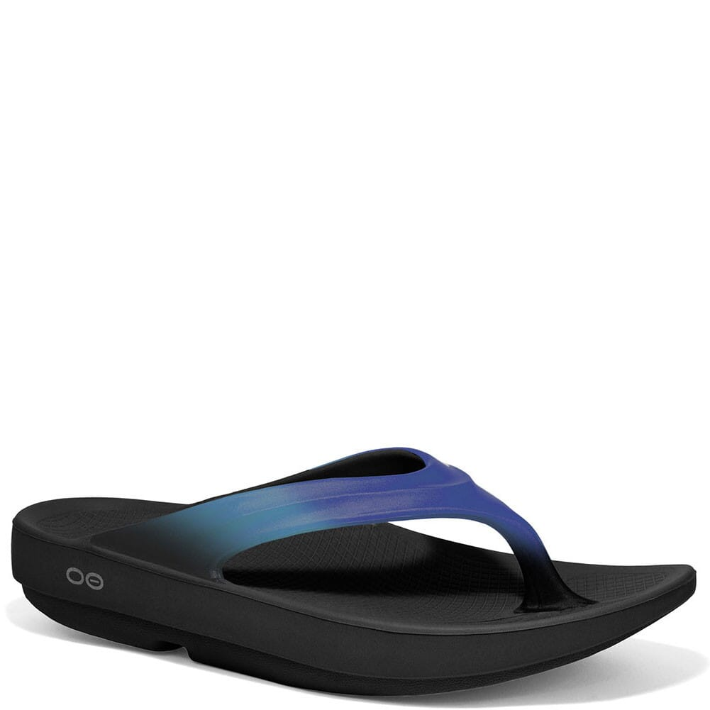 Image for OOFOS Women's OOlala Sandals - Blue Jay/Black from elliottsboots