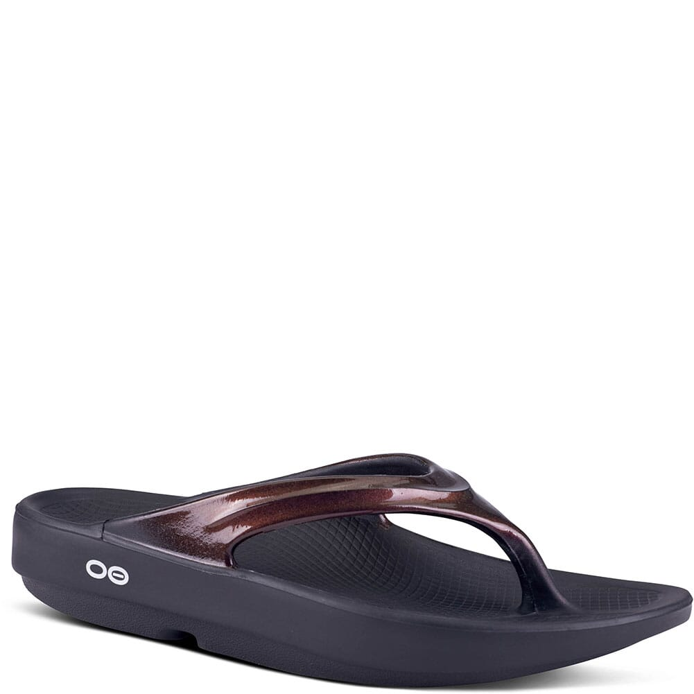 Image for OOFOS Women's OOlala Sandals - Black/Cabernet from bootbay