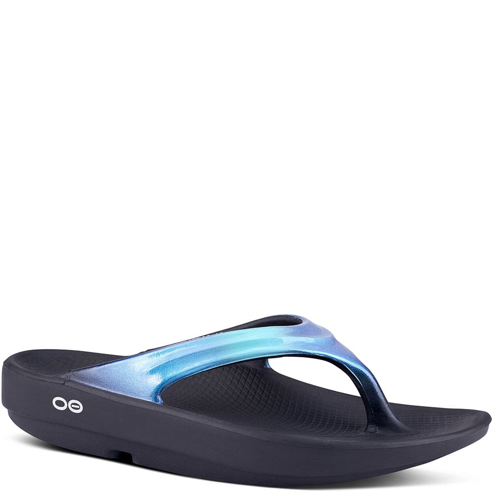 Image for OOFOS Women's OOLala Luxe Casual Sandals - Black/Atlantis from bootbay