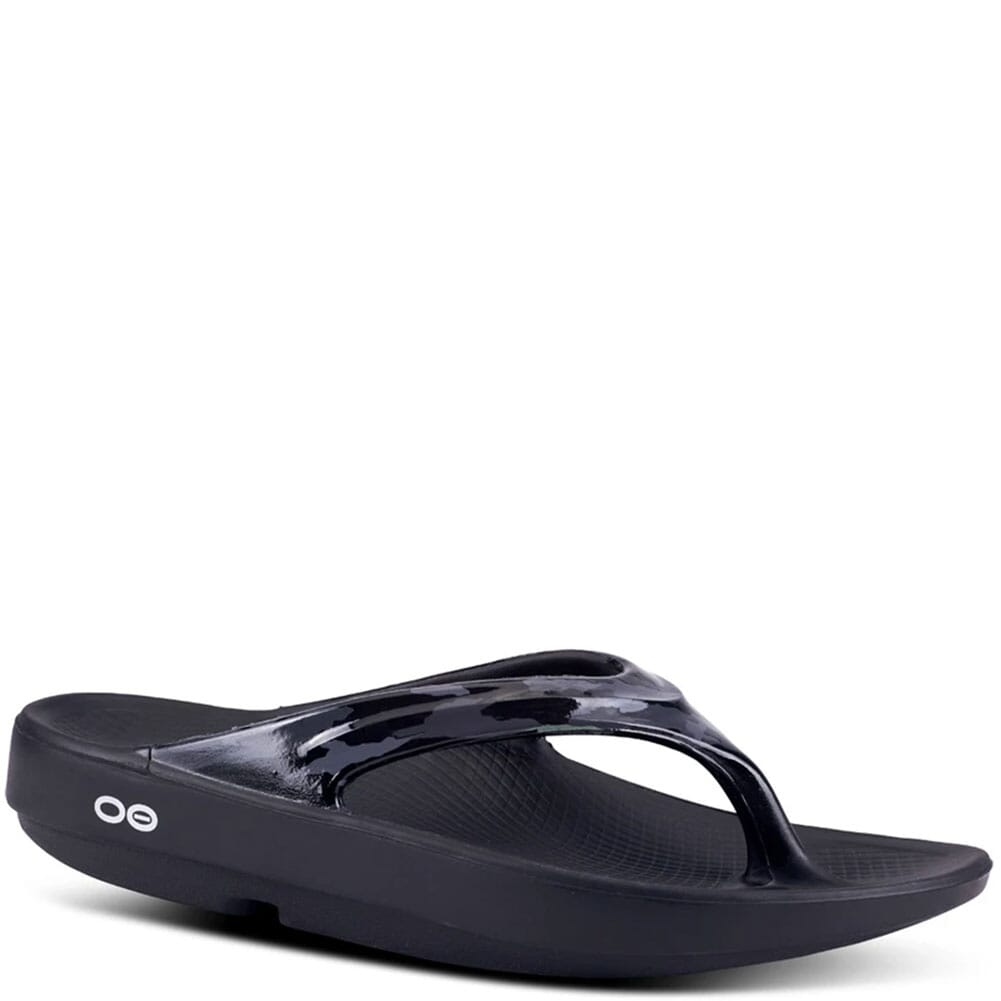 Image for OOFOS Women's OOlala Limited Sandals - Black/Grey Camo from elliottsboots