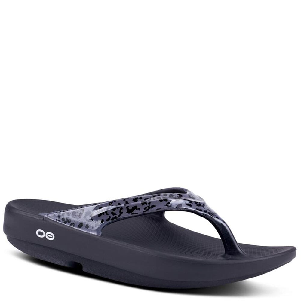 Image for OOFOS Women's OOlala Limited Sandals - Grey Leopard from elliottsboots