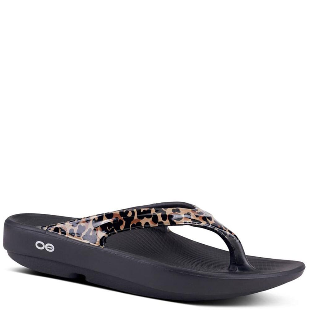 Image for OOFOS Women's OOlala Limited Sandals - Leopard from elliottsboots
