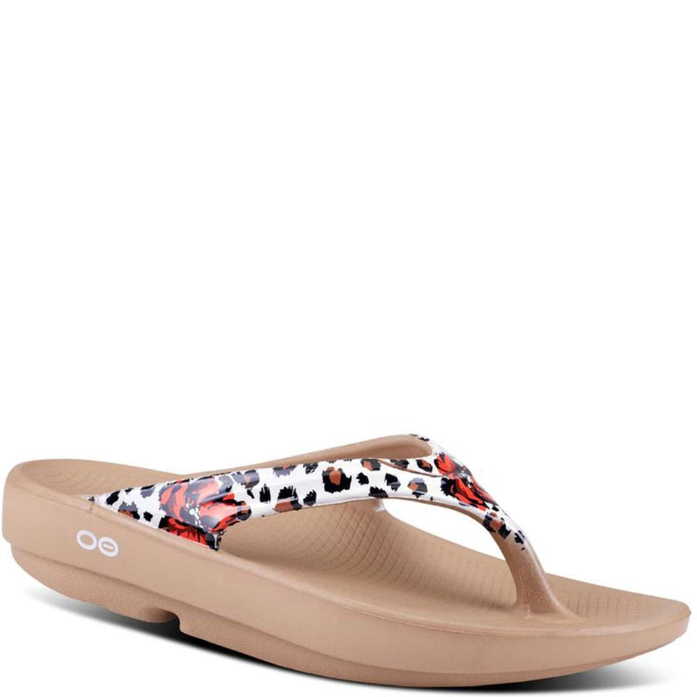 Image for OOFOS Women's OOlala Limited Sandals - Leopard Flora from elliottsboots