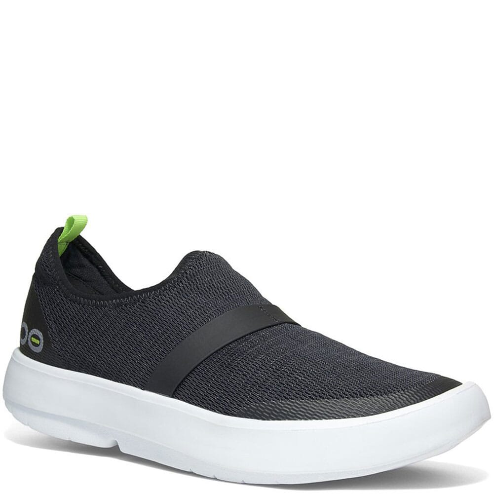 Image for OOFOS Women's OOMG Casual Shoes - Black/White from bootbay