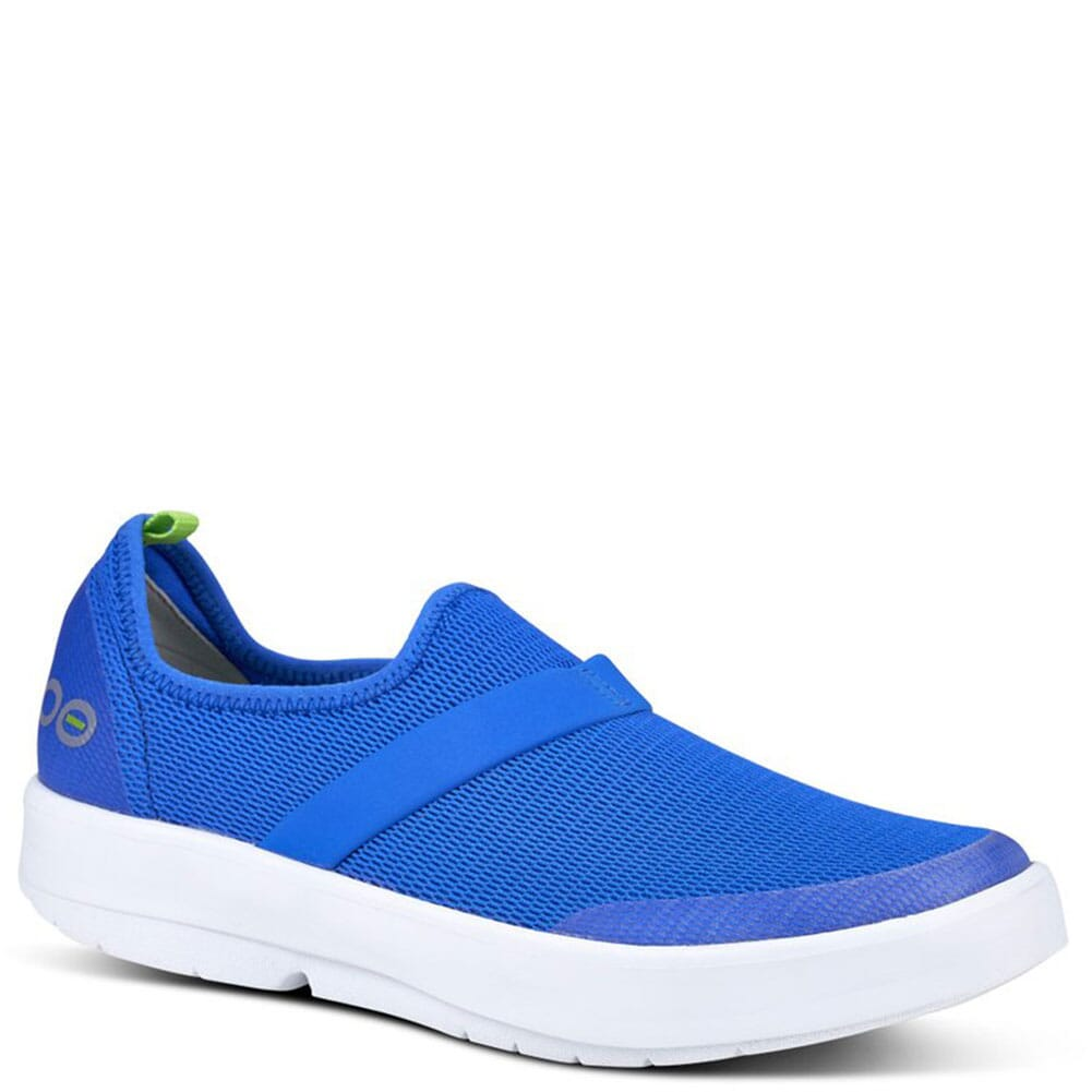 Image for OOFOS Women's OOMG Casual Shoes - White/Blue from bootbay