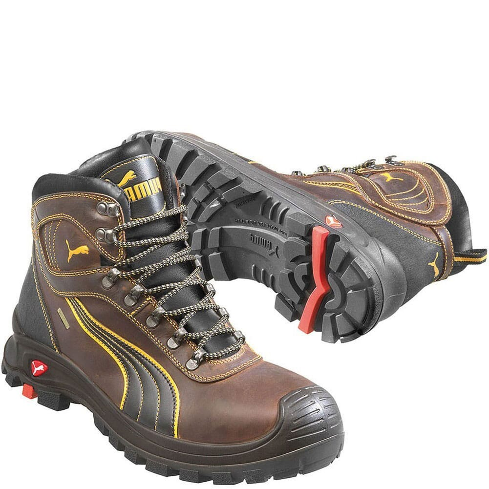 Image for Puma Men's Sierra Nevada Mid Safety Shoes - Brown from bootbay