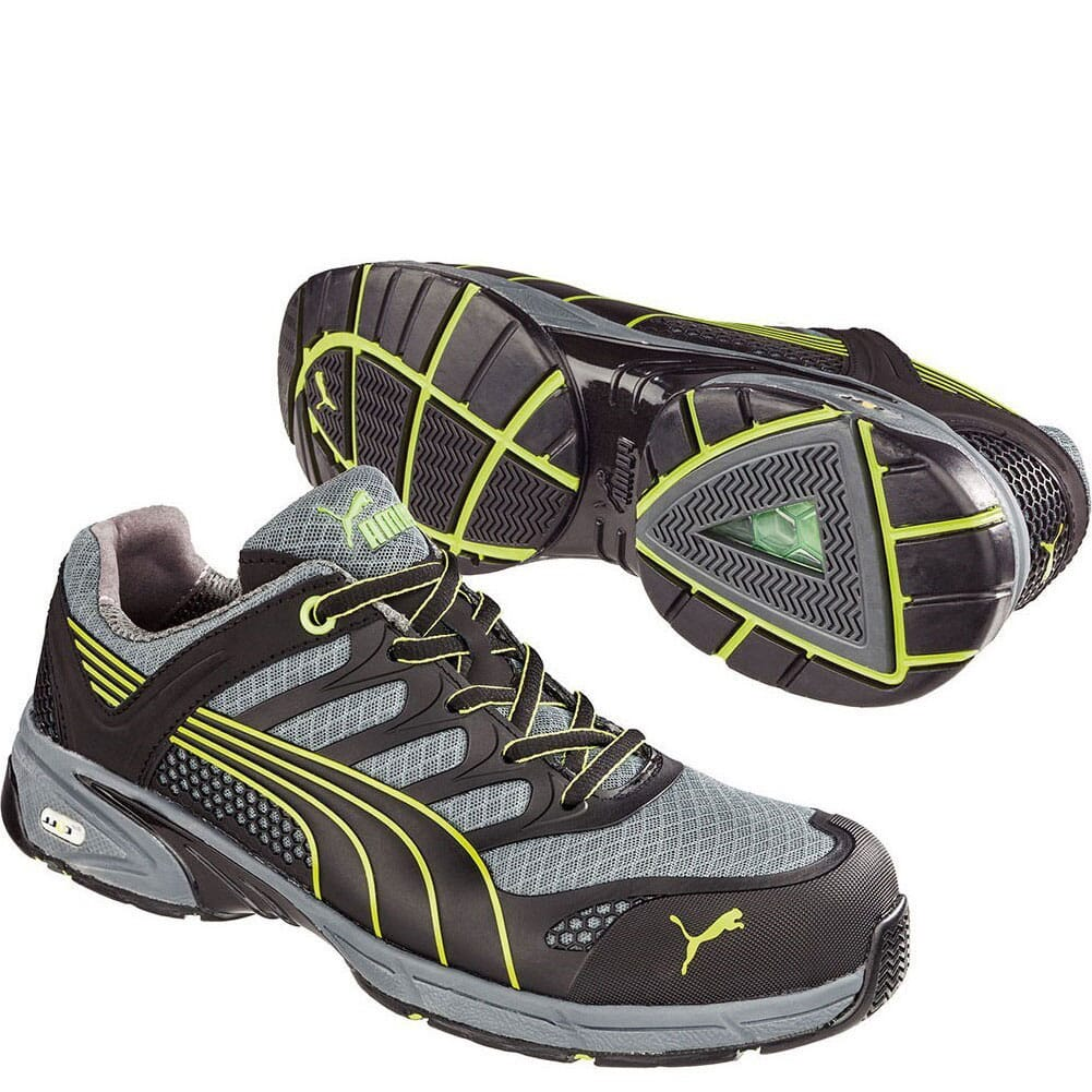 Image for Puma Men's Fuse Motion Low Safety Shoes - Black/Green from bootbay