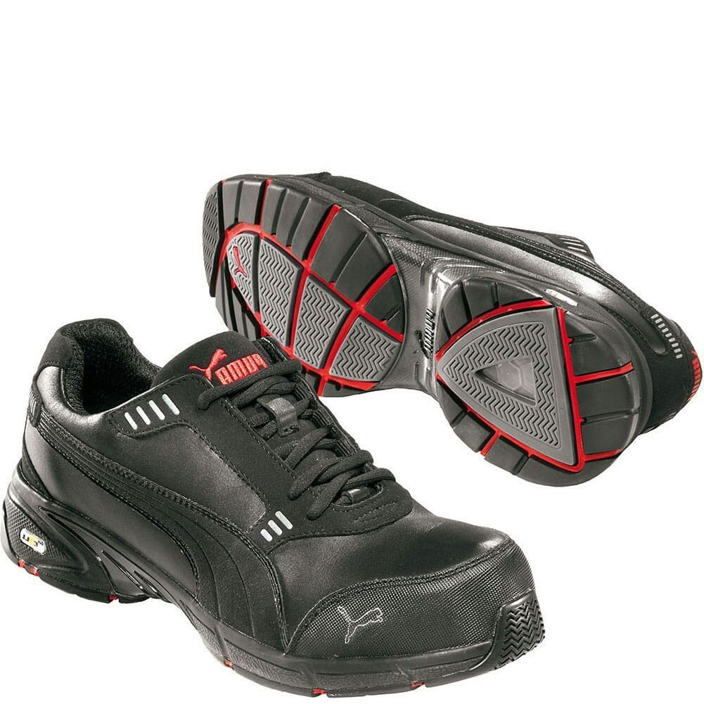 Image for Puma Men's Velocity Low Safety Shoes - Black/Red from bootbay