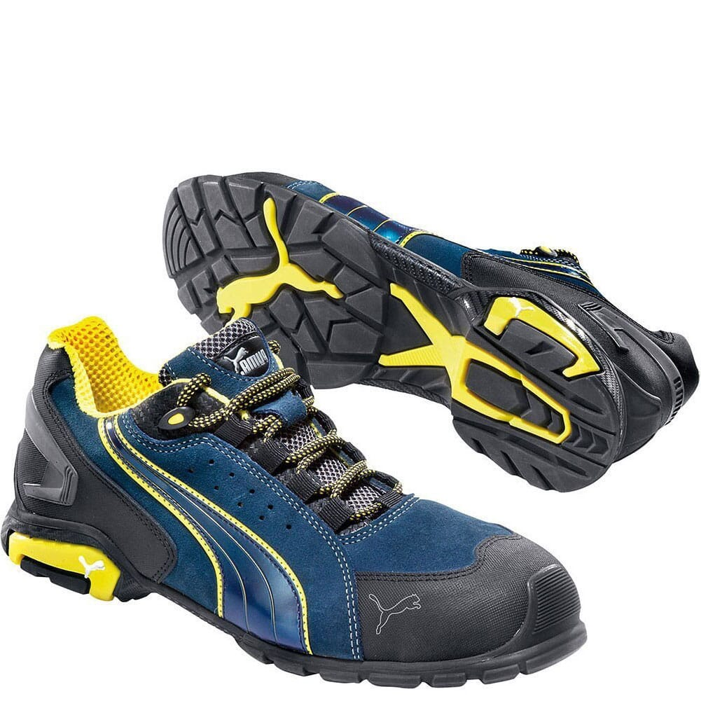 Image for Puma Men's Rio Low Safety Shoes - Blue from bootbay