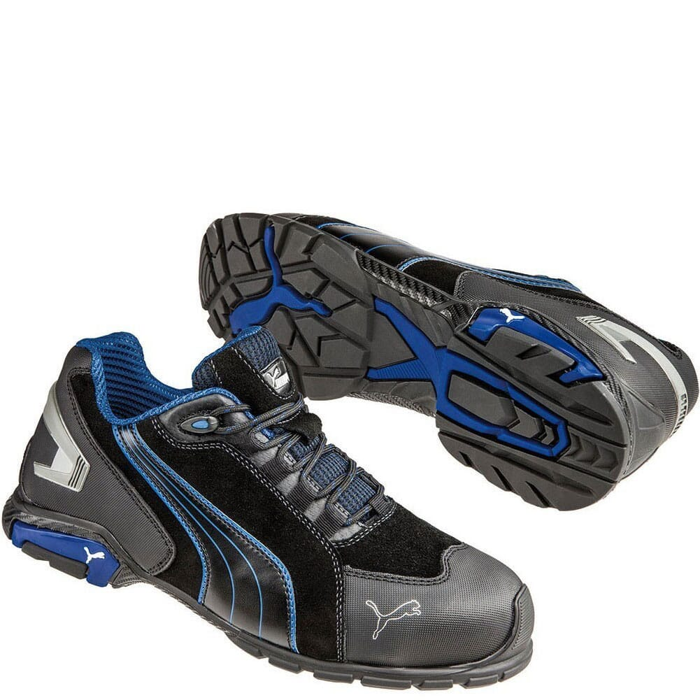 Image for Puma Men's Rio Low Safety Shoes - Black/Blue from bootbay