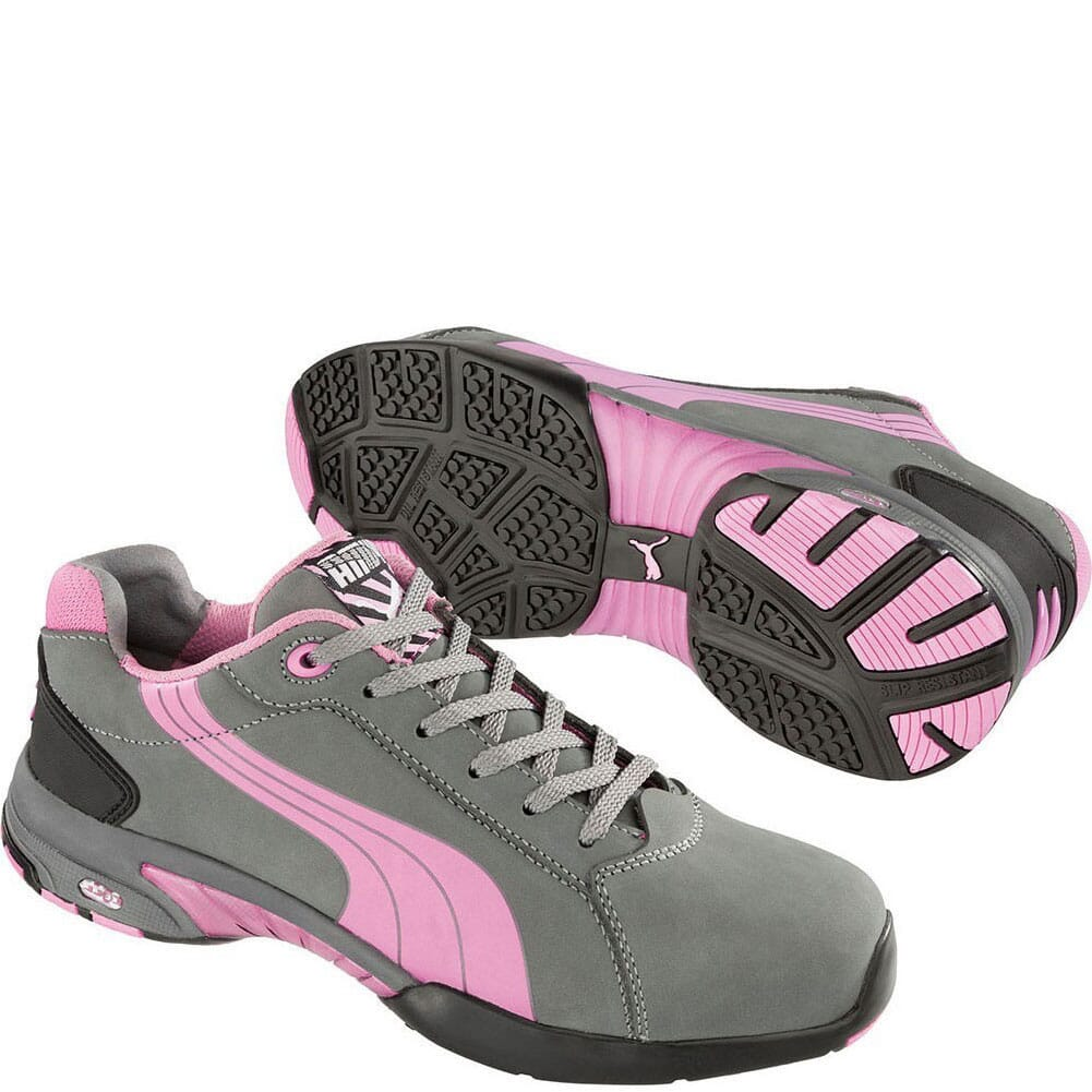 Image for Puma Women's Balance Low Safety Shoes - Grey/Pink from bootbay