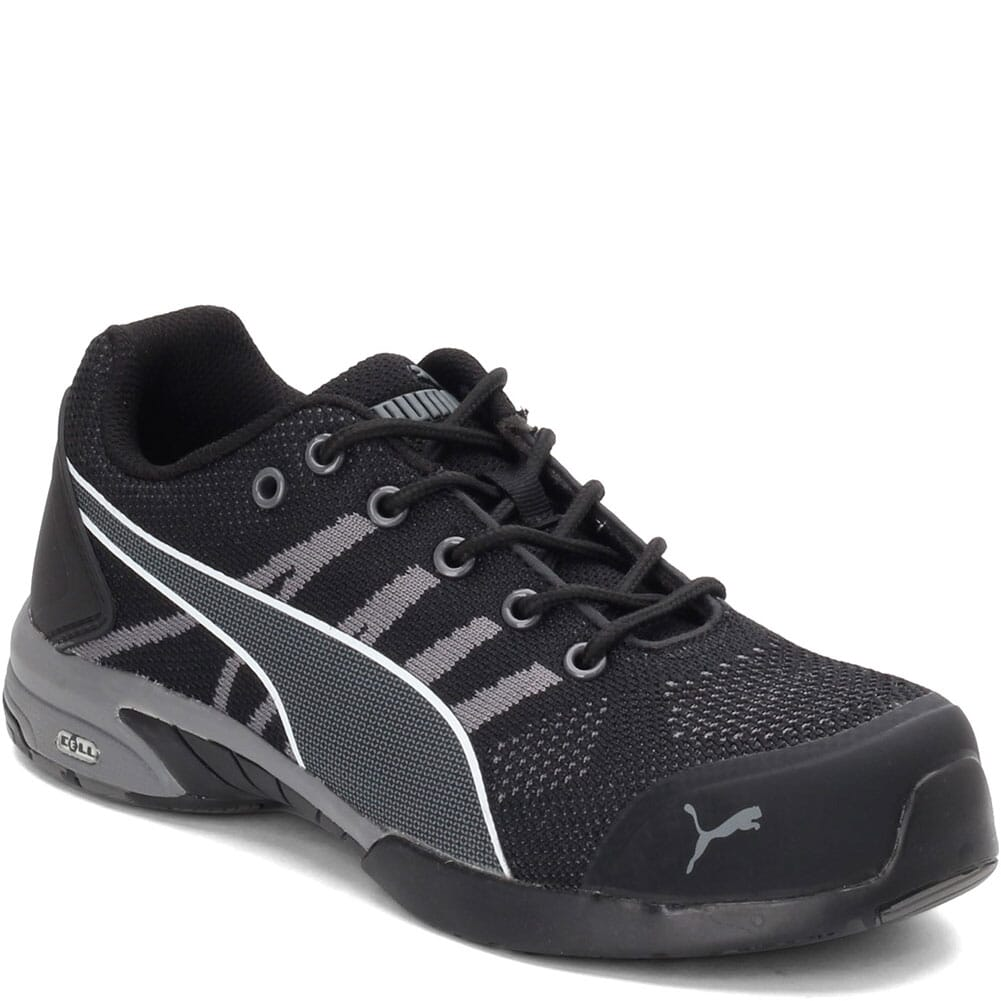 Image for Puma Women's Fuse TC Green Safety Shoes - Black/Grey from elliottsboots