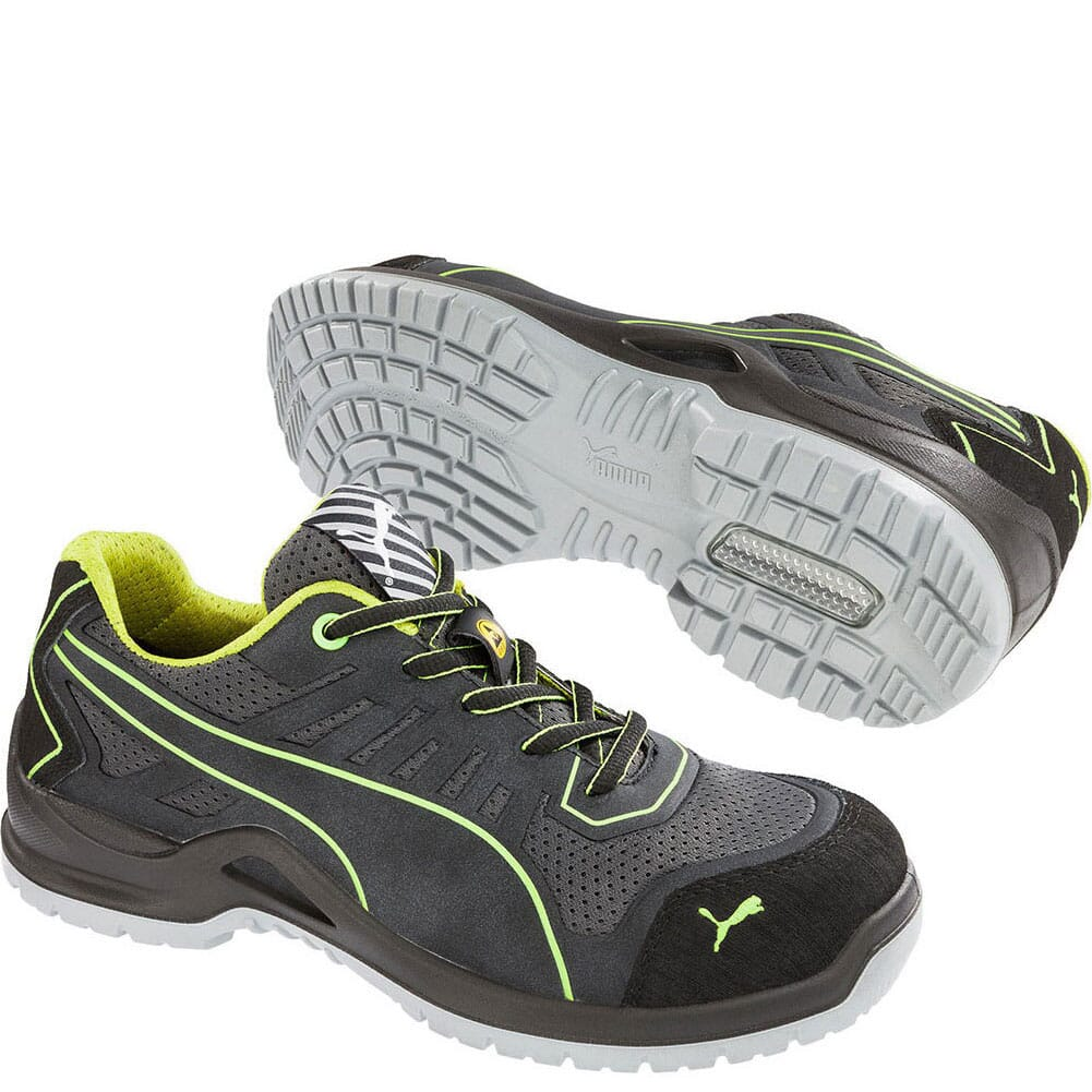 Image for Puma Women's Fuse Tc Low Safety Shoes - Green from bootbay