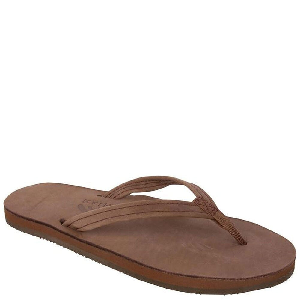 Image for Rainbow Women's Premier Leather Flip Flops - Espresso from elliottsboots