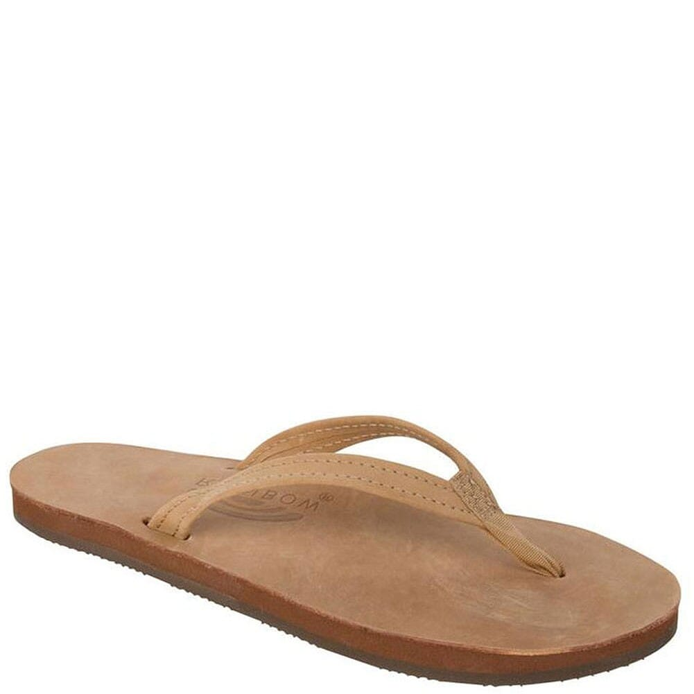 Image for Rainbow Women's Premier Leather Flip Flops - Brown from bootbay