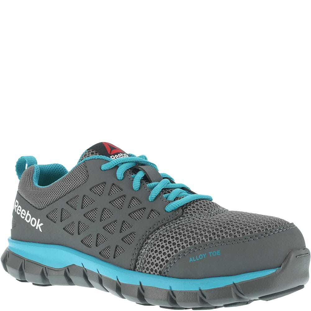 Image for Reebok Women's Sublite Safety Shoes - Grey/Turquoise from bootbay