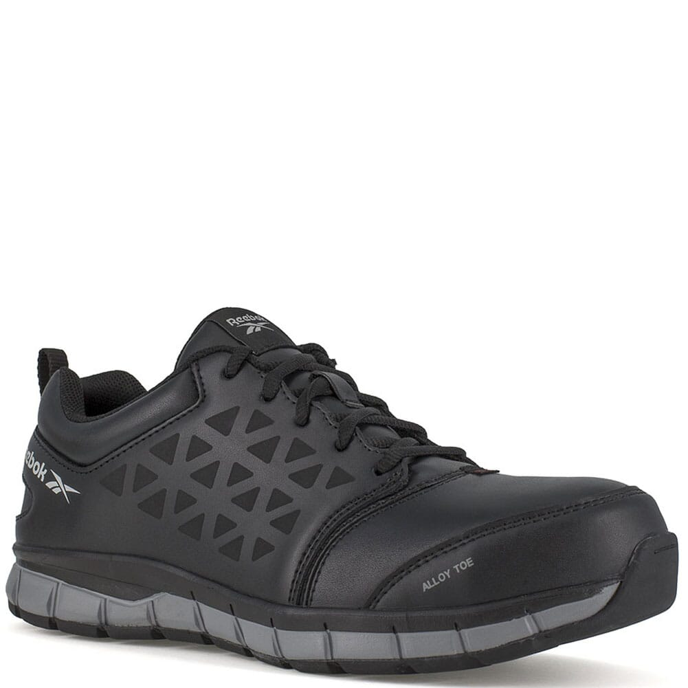 Image for Reebok Women's Sublite Cushion Wide Toe Safety Shoes - Black from elliottsboots