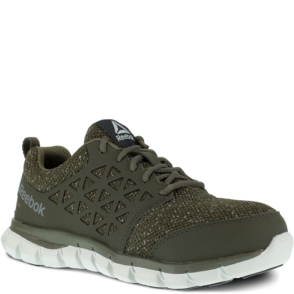 Image for Reebok Women's Sublite Cushion Safety Shoes - Oilve Green from elliottsboots