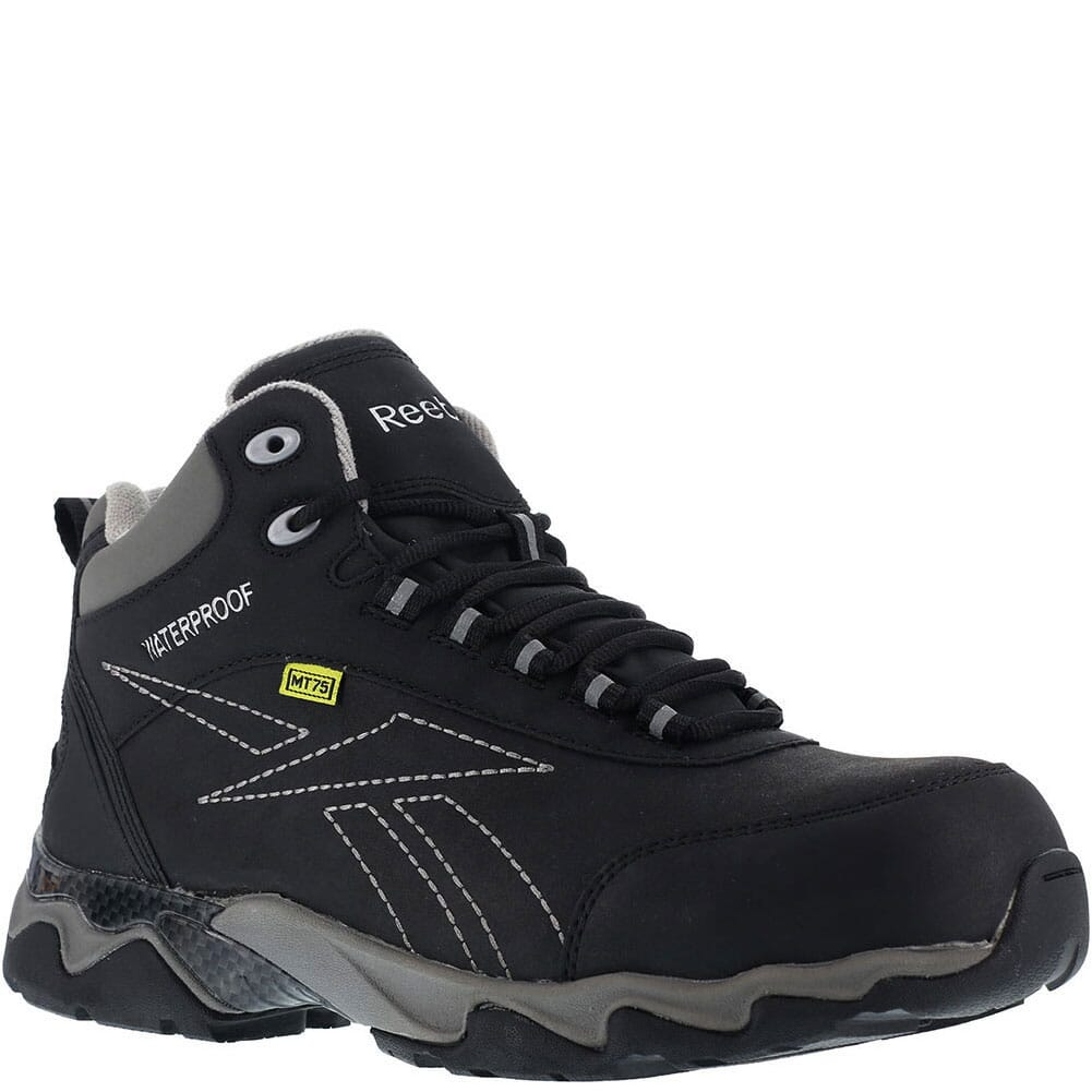 Image for Reebok Men's EH WP Met Safety Boots - Black/Grey from bootbay