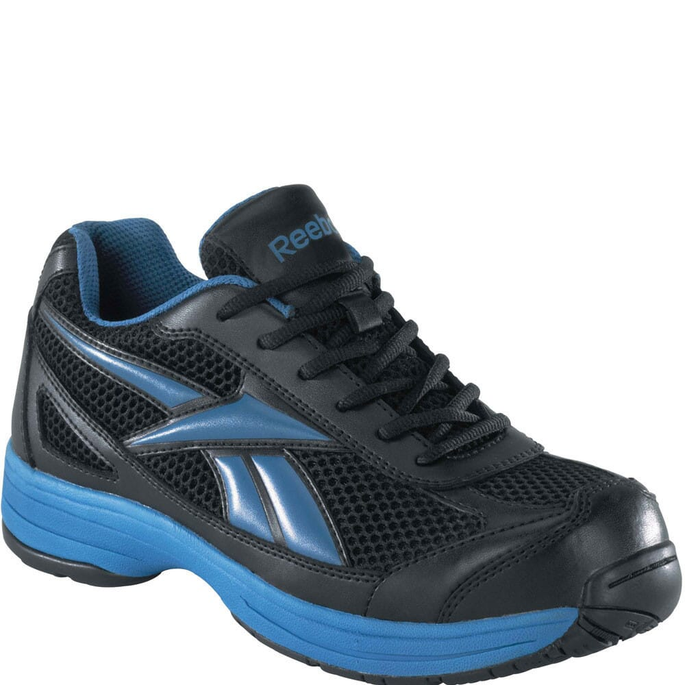 Image for Reebok Men's Cross Trainer EH Safety Shoes - Black Blue from bootbay