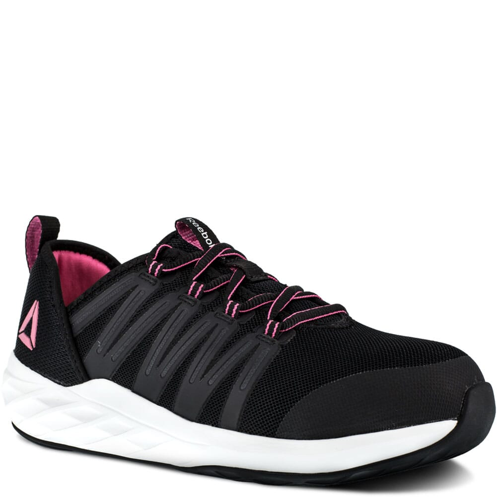 Image for Reebok Women's Astroride Safety Shoes - Black/Pink from bootbay