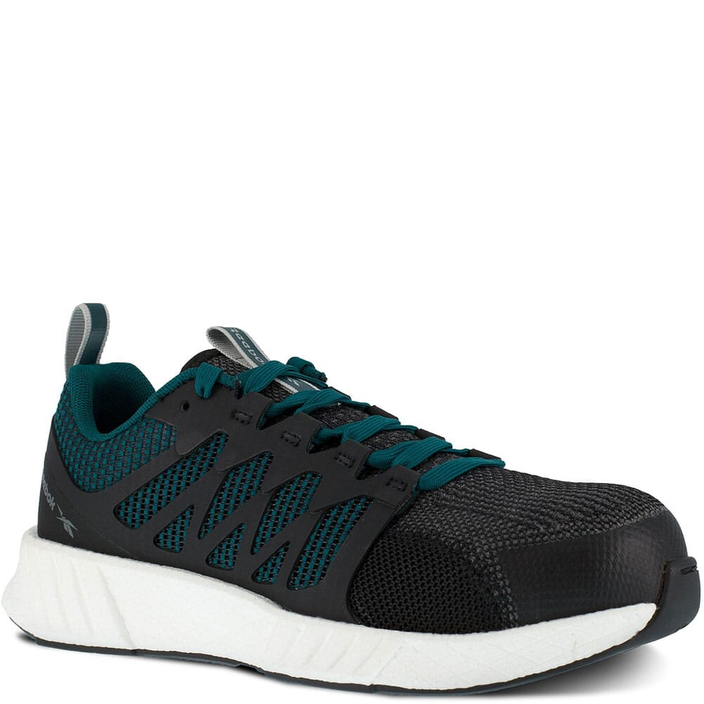 Image for Reebok Women's Fusion Flexweave Safety Shoes - Black/Teal from bootbay