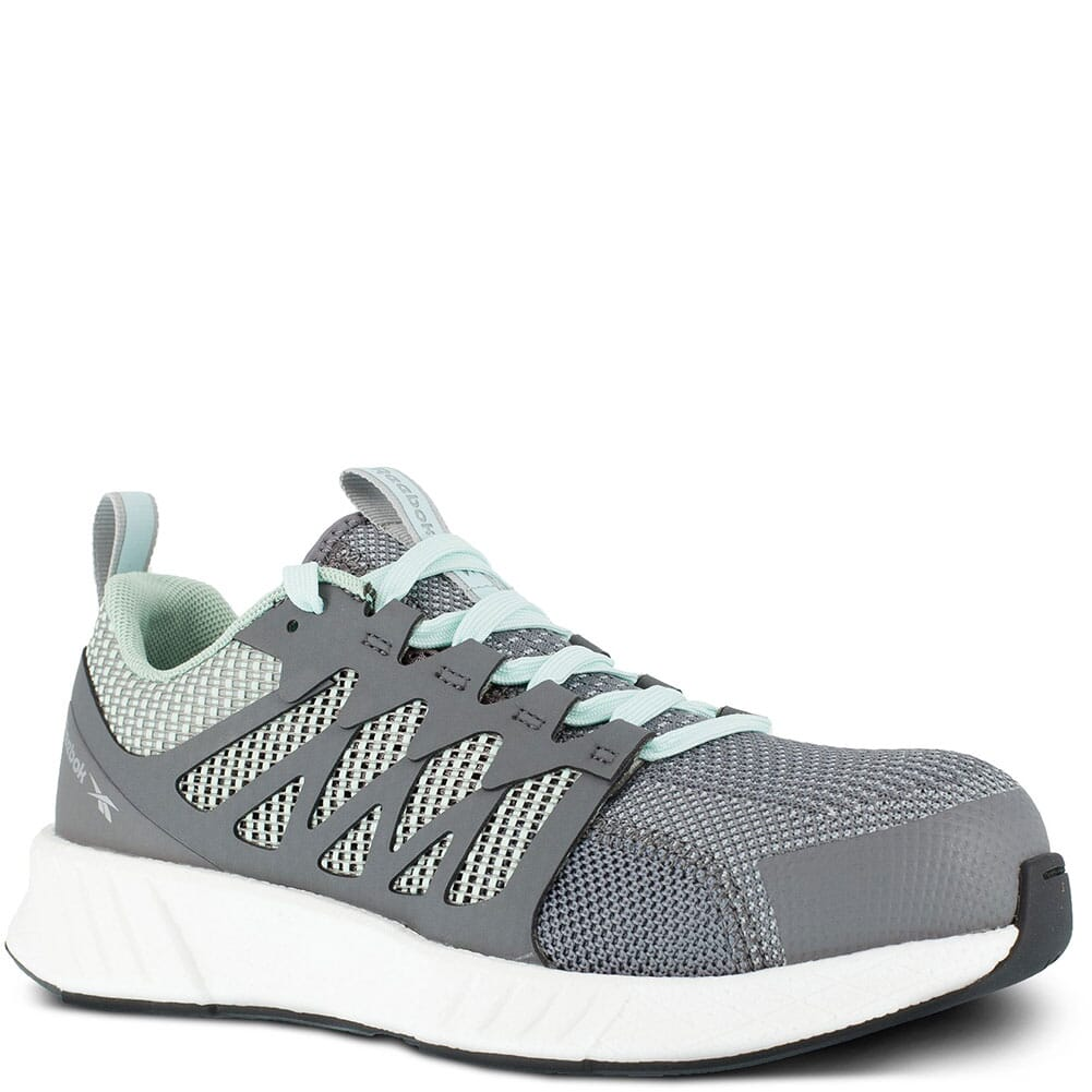 Image for Reebok Women's Fusion Flexweave Safety Shoes - Grey/Mint Green from elliottsboots