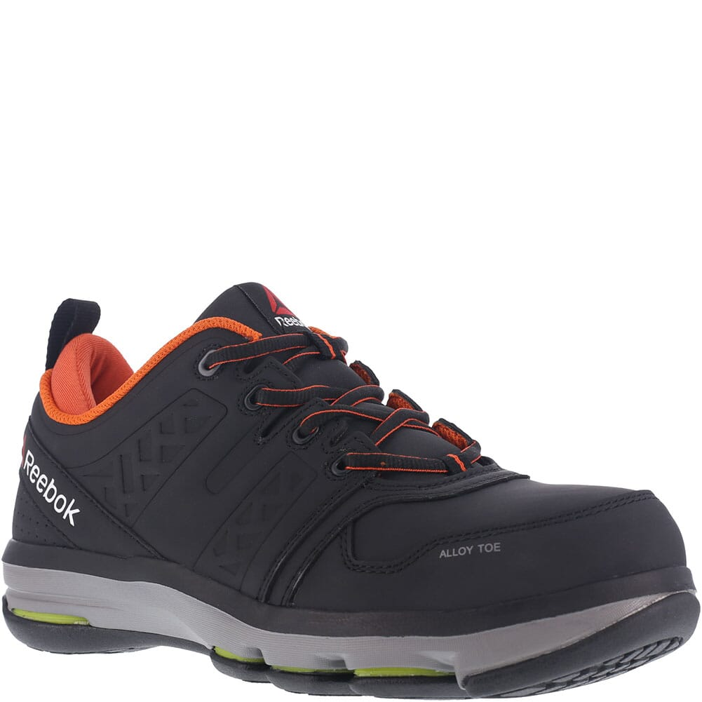 Image for Reebok Men's DMX Flex Safety Shoes - Black/Orange from bootbay