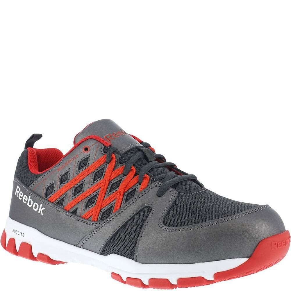 Image for Reebok Men's EH SR Safety Shoes - Grey/Red from bootbay