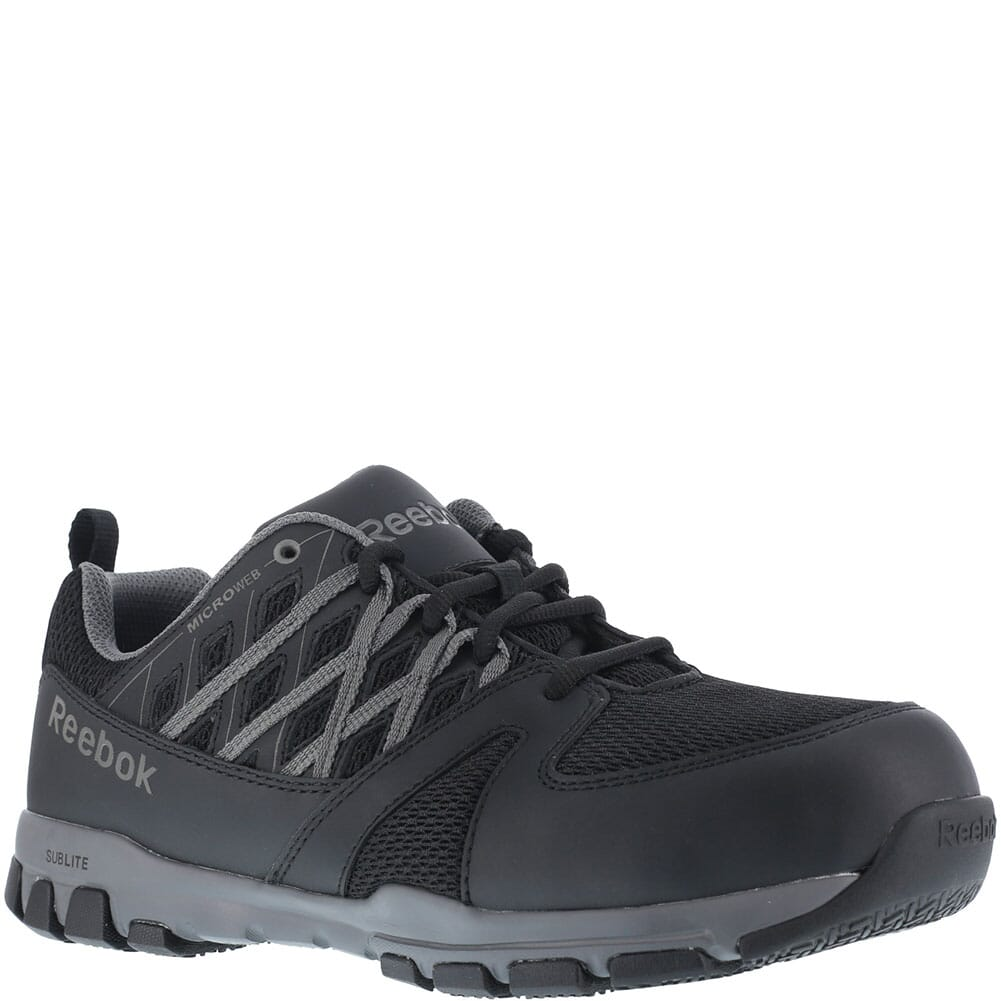 Image for Reebok Men's Sublite Work Shoes - Black from bootbay