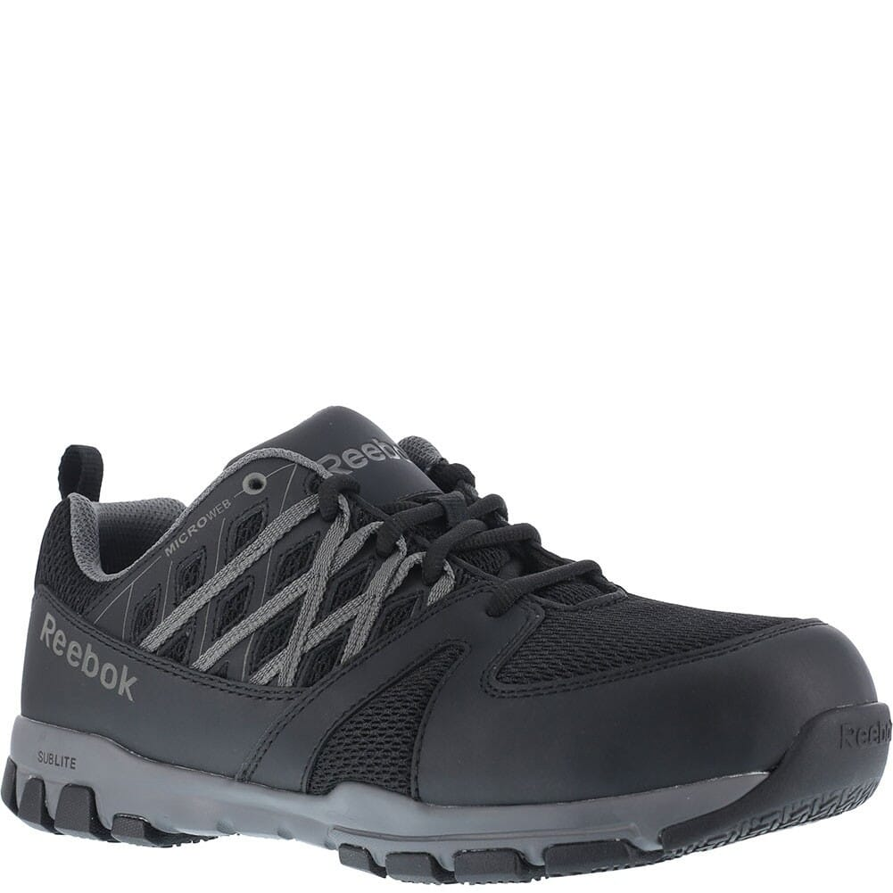 Image for Reebok Men's Sublite SR Safety Shoes - Black from bootbay