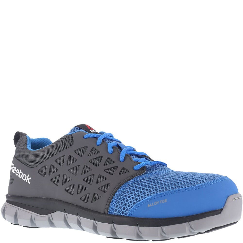 Image for Reebok Men's Sublite Safety Shoes - Blue/Grey from bootbay