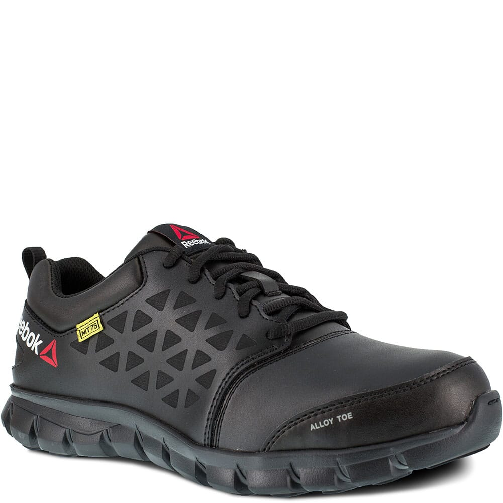 Image for Reebok Men's Sublite Met Guard Safety Slip On - Black from bootbay