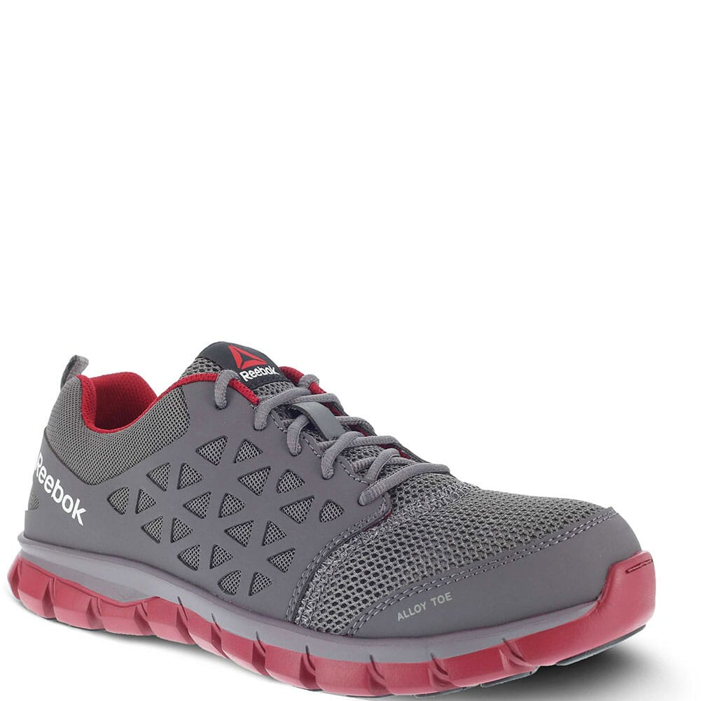 Image for Reebok Men's Sublite Safety Shoes - Grey/Red from bootbay