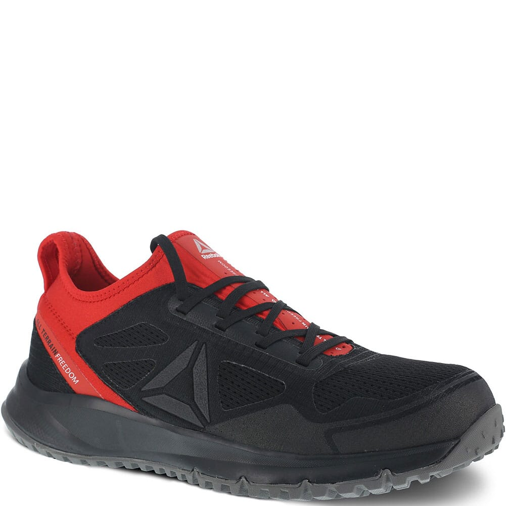 Image for Reebok Men's All Terrain Safety Shoes - Black/Red from bootbay