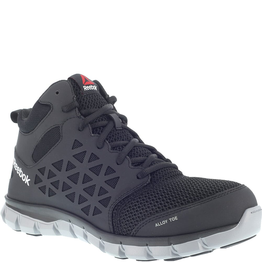 Image for Reebok Men's Sublite Cushion Mid Safety Shoes - Black from bootbay