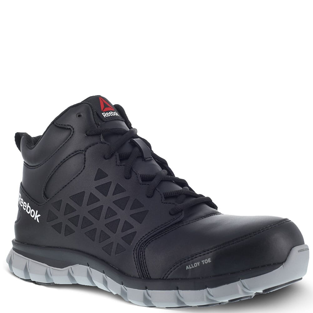 Image for Reebok Men's Sublite Cushion Safety Shoes - Black from bootbay