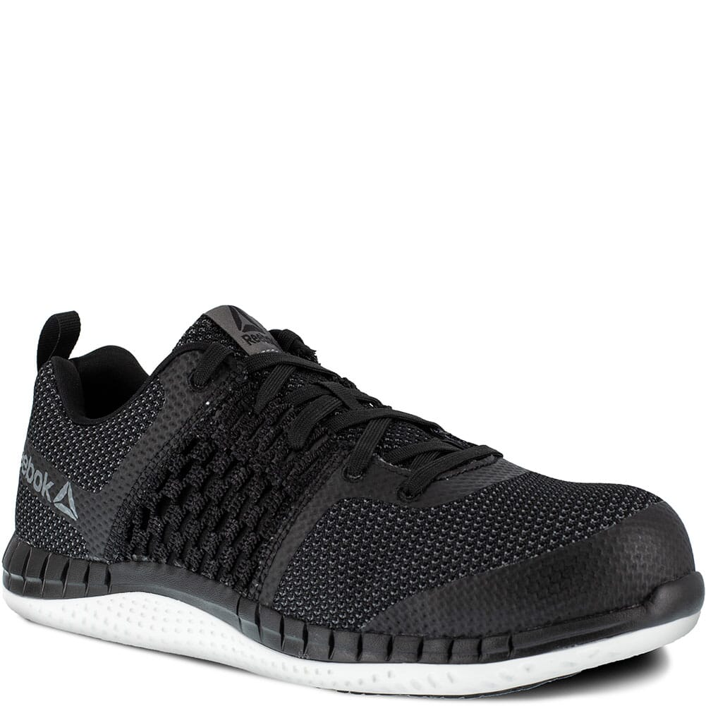 Image for Reebok Men's Print Ultraknit Safety Shoes - Black/White from bootbay