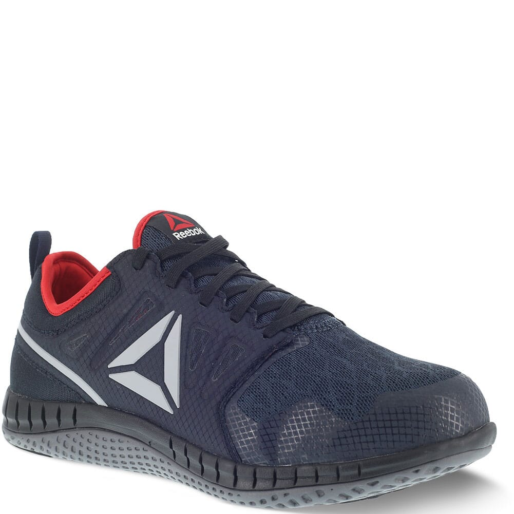 Image for Reebok Men's ZPRINT EH Safety Shoes - Navy/Red/Gray from bootbay