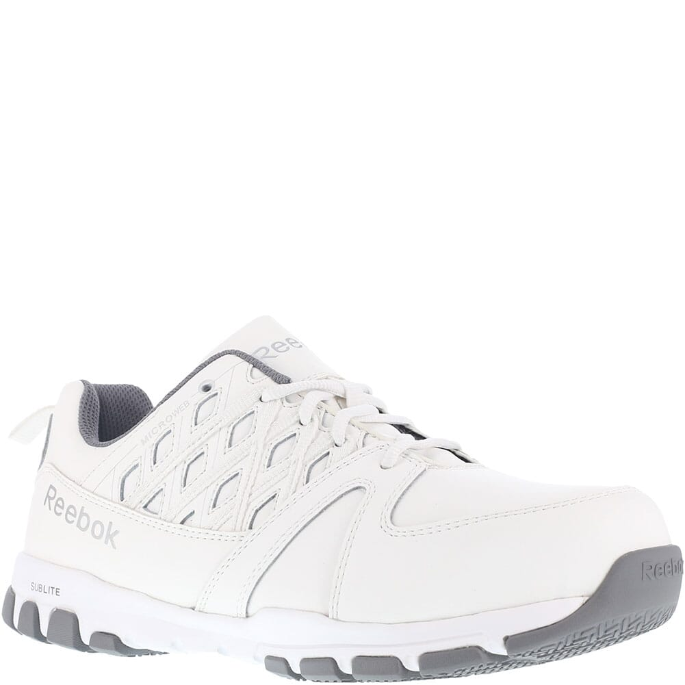 Image for Reebok Men's Sublite Safety Shoes - White from bootbay