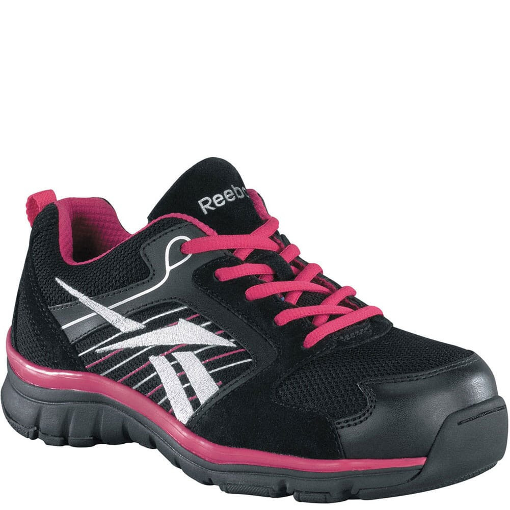 Image for Reebok Women's Arion Safety Shoes - Pink/Black from bootbay