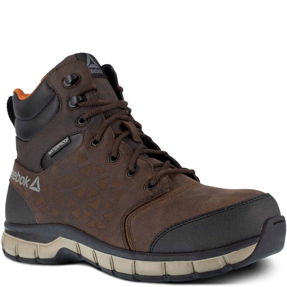 Image for Reebok Men's Sublite Cushion Safety Boots - Brown from bootbay