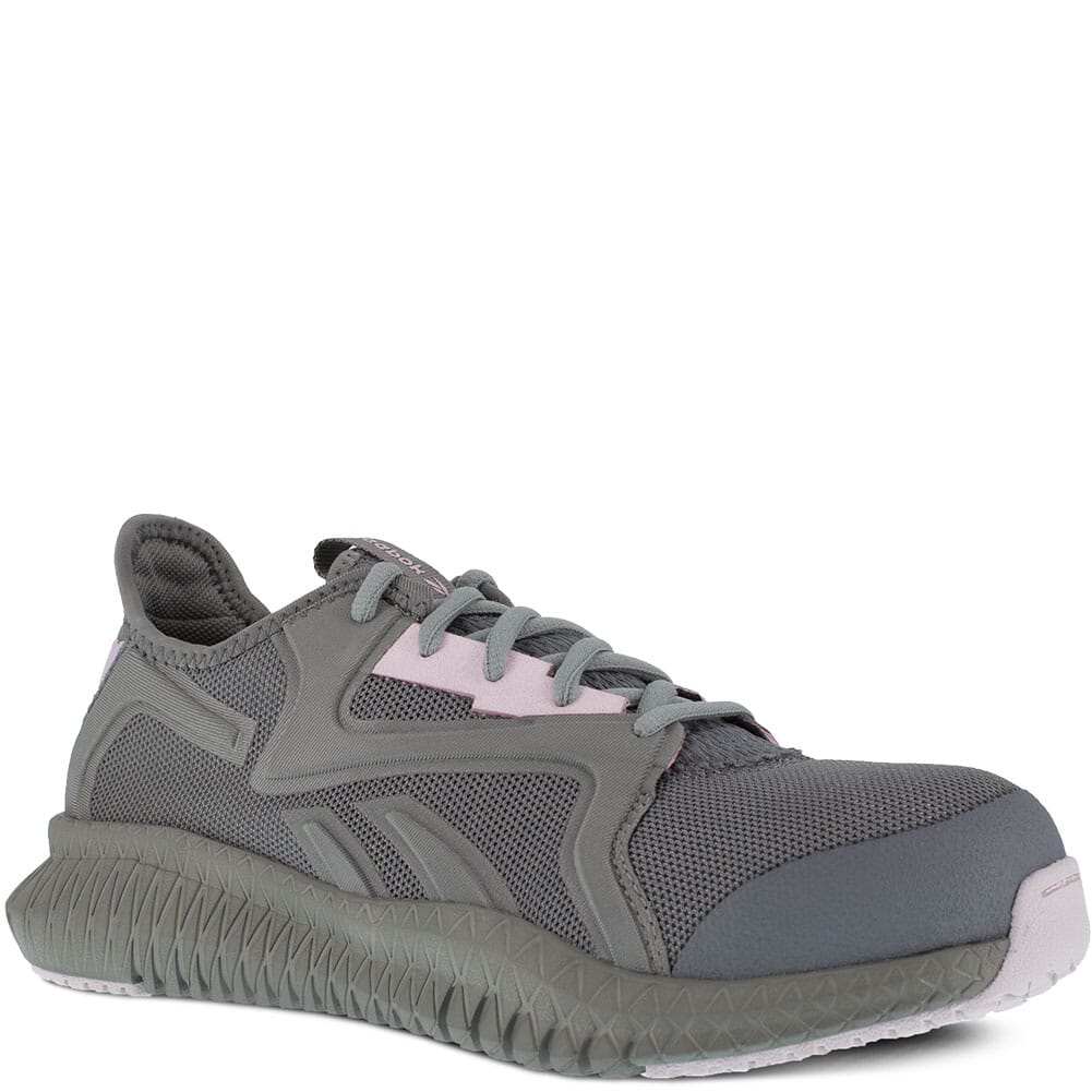 Image for Reebok Women's Flexagon 3.0 Safety Shoes - Grey/Pink from elliottsboots